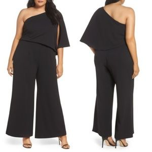 🆕 ADRIANNA PAPELL OFF SHOULDER CREPE JUMPSUIT